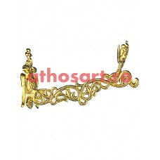 Agatatoare aluminiu aurit (33 cm) cod 89-597